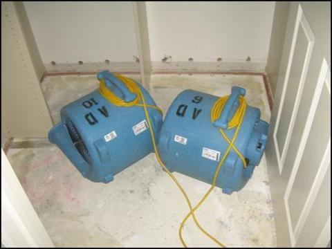 Air Movers used for water damage in Santa Clarita